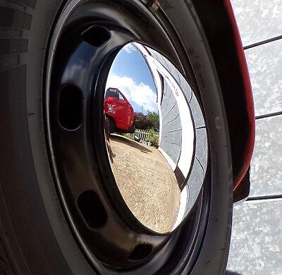 VW Camper Wheel Hub Caps Stainless Steel Chrome Baby Moon T2 Baywindow Bus /& T25
