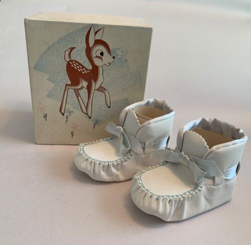 Vintage Trimfoot Baby Deer Shoes ~ Size 2 ~ With Original Box