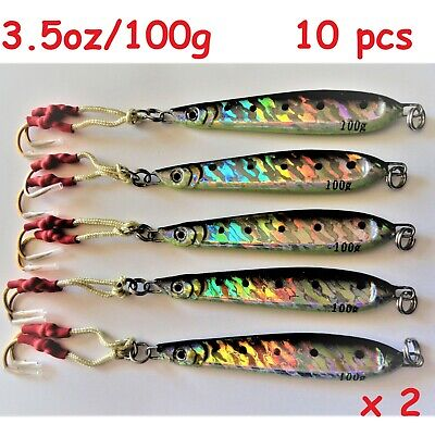 3 to 16 Pieces 3.5oz Butterfly Mega Live Bait Metal Jigs With Treble Hook