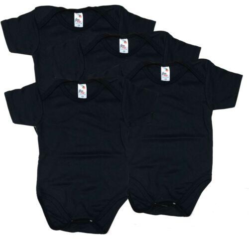 Newborn Bodysuits Solid Lot Pack -4 Boys Girls Plain Blank Cotton Size 0-24 Mont