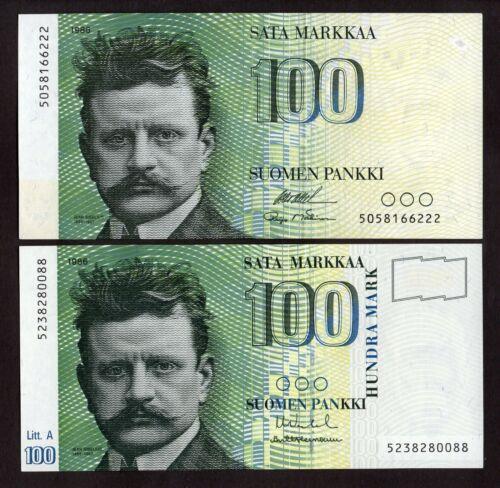 Finland 100 Markkaa 1986 , Without Litt & Litt.A, XF-aUNC