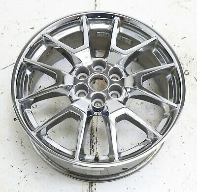 "20"" CADILLAC SRX USED CHROME WHEEL 2013-2016 RIM FACTORY OEM 4709"