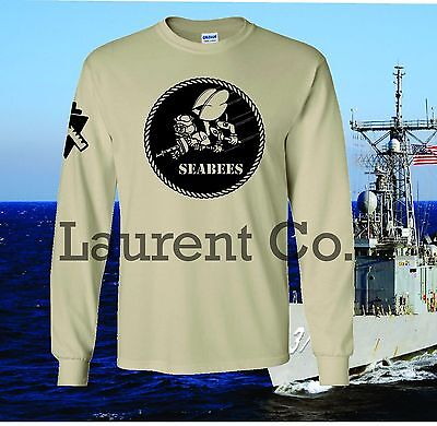 New Usn Navy Seabees T Shirt Military Armed Forces Combat We Build We Fight