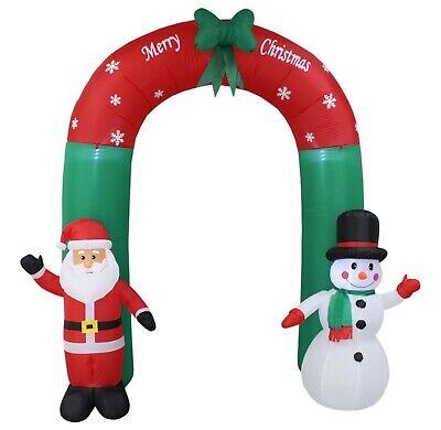 Christmas Air Blown LED Inflatable Yard Decoration Santa Snowman Bow Tie - Christmas Archway Decoration