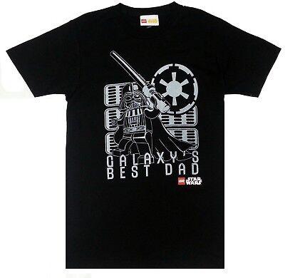 Lego STAR WARS DARTH VADER GALAXY'S BEST DAD T-Shirt NWT Licensed & (Darth Vader Best Dad Shirt)