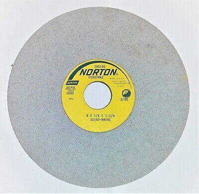 Norton Grinding Wheel 8 X 14 X 1-14 32a80-h8vbe Max Speed 3600 Rpm