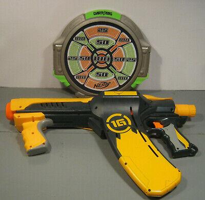 NERF DART TAG QUICK 16 SOFT DART GUN w TARGET LOT T5