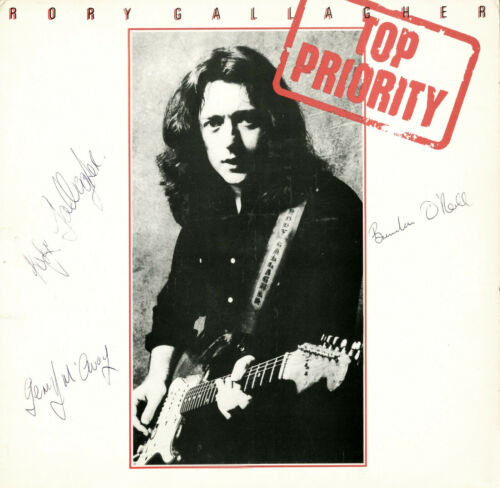 RORY GALLAGHAR Top Priority Vinyl Record hand signed by Rory +2 RESTORED
