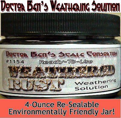 (Doctor Ben's Weathered Rust Weathering Solution-4oz)