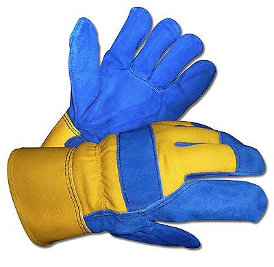 Mens B&G Thermo Insulated Water-Proof Lined Cowhide Leather Work Winter (Insulated Leather Work Gloves)