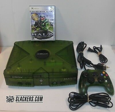 XBOX Special Edition HALO Green Console + HALO Controller + Game + Br Away Cable for sale  Shipping to India