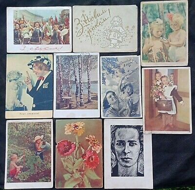 Lot of 10 USSR Postcards 1950/60 Russia Soviet