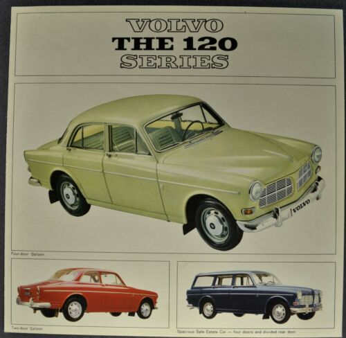1966 Volvo 122S Brochure Folder Sedan Wagon B18D Excellent Original 66