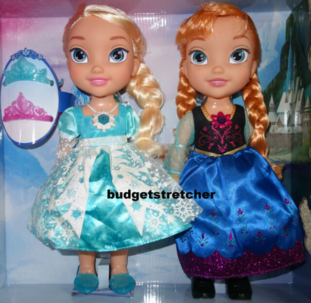 NEW Disney Frozen Snow Glow SINGING Anna and Elsa doll 2 pack