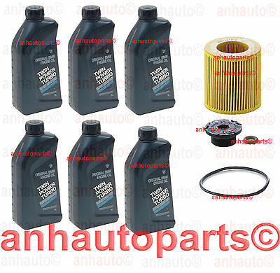 6-Quarts Genuine BMW Oil + OEM Mann Oil Filter 228i 330i 328 428 X1