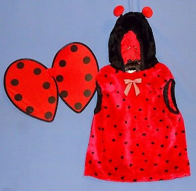 Ladybug Costume childs Large-Plush Beetle-Bug-Insect;wings,Dress Up School Play