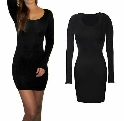 Women/'s Wiggle Dress V Neck Wrap Dress Long Sleeve Pencil Tunic Sizes 8-18 FA222