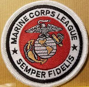 USMC Patch With VELCRO® Brand Fastener SEMPER FIDELIS White Border #2