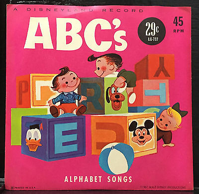 Disney 7  Looby Lou Acting Out The Abcs   Alphabet Songs Lg 737 1961 Disneyland