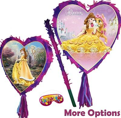 Belle Heart Pinata Smash Party Stick Disney Princess Beauty and the Beast UK New - Disney Princess Pinata