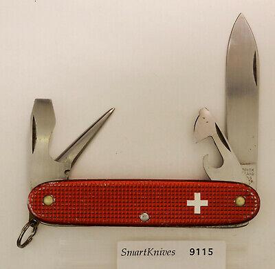 Victorinox Pioneer Swiss Army knife (red)- vintage old cross very good #9115