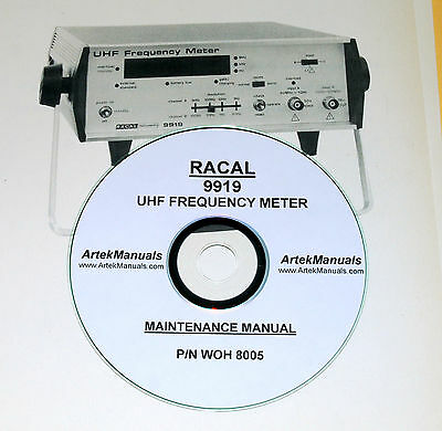 Racal 9919 Uhf Frequency Meter Maintenance Manual With Schematics
