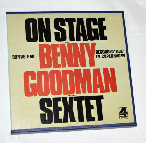 """Benny Goodman """"On Stage with Sextet"""" Reel to Reel Tape~Jazz~London 7 1/2 ips"""