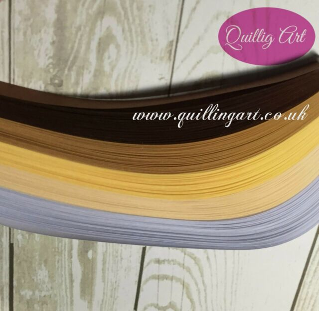 Quilling Papers 3mm Paper MIX Pastels Colours (200 Strips x 297mm 80gsm)