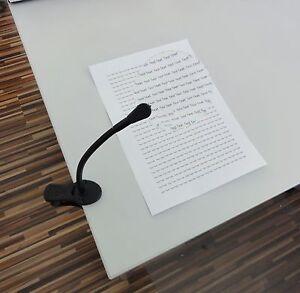 Leselupe mit Tischklemme Arbeitslupe Klemmlupe Schwanenhals Flexarm Lupe