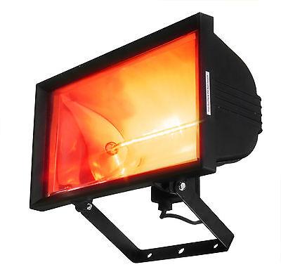 Chauffage Exterieur Lampe Murale Halogène Infra-Rouge Parasol Chauffant 1.2kW
