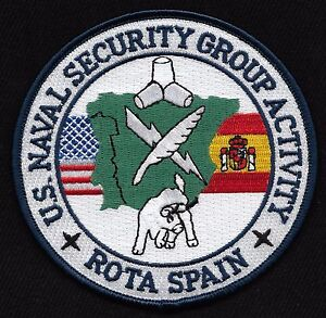 US NAVAL SECURITY GROUP ACTIVITY ROTA, SPAIN MILITARY PATCH