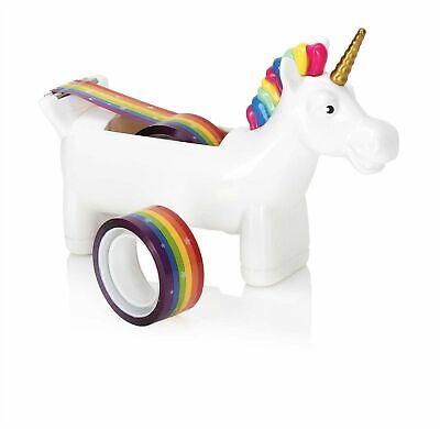 Unicorn Desktop Tabletop Tape Dispenser 2 Rolls Rainbow Tape