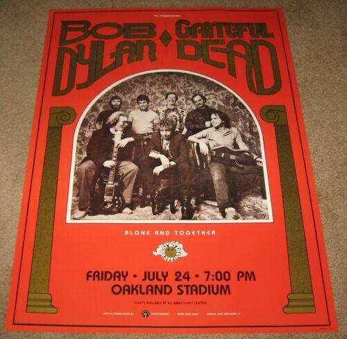 1987 BOB DYLAN / GRATEFUL DEAD CONCERT POSTER BGP016 2nd Print Bill Graham