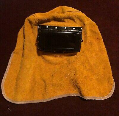 Leather Solar Auto Darkening Filter Lens Welder Welding Hood Mask Helmet New Td
