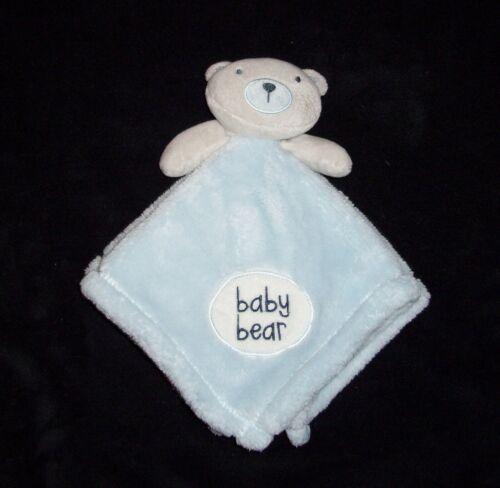 "Baby Gear Blue Bear Blanket Soft Plush Security Lovey 2017 14x14"""