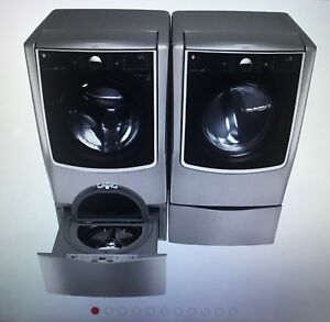 Washer & Dryer 4 pc. Set: 6.3 Total Capacity LG TWINwash System