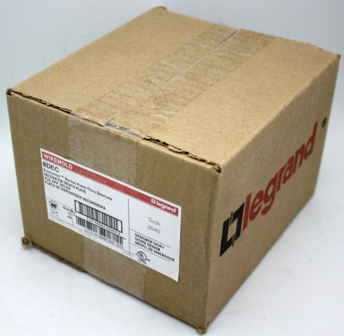 Box of 10 Pass & Seymour/Legrand 8DEC Evolution 8AT Decorator Device Plate-Ivory
