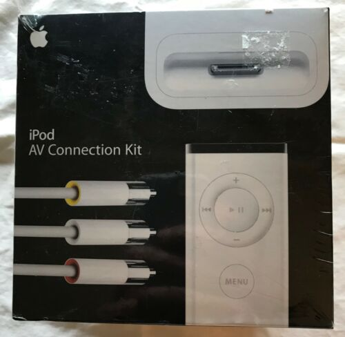iPod Apple AV Connection Kit -Dock Connector & Remote Audio MA242LL/A NIB Sealed