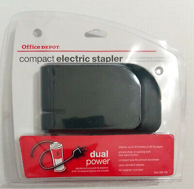 Brand New Sealed Office Depot Compact Electric Stapler Dual Power Black