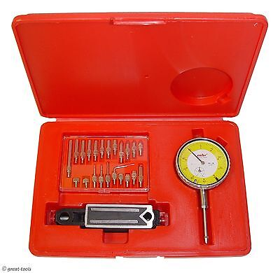 Dial Indicator Set With Mini Magnetic Base - Mag Base Points Machinist Tools