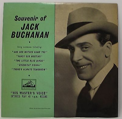"JACK BUCHANAN : SOUVENIR OF EP 7"" Vinyl Single 45rpm Mono Excellent"