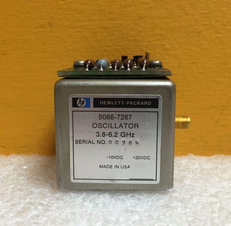 HP/Agilent 5086-7267, 2.3-6.2 GHz, -10 to +20 VDC, SMA YIG Tuned Oscillator Assy