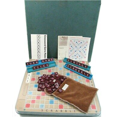 Scrabble Turntable Deluxe Edition Game Vintage Selchow & Righter 1977 Crossword