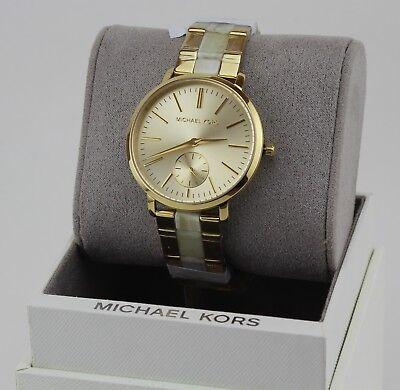 NEW AUTHENTIC MICHAEL KORS JARYN IVORY GOLD WOMEN'S MK3510 WATCH