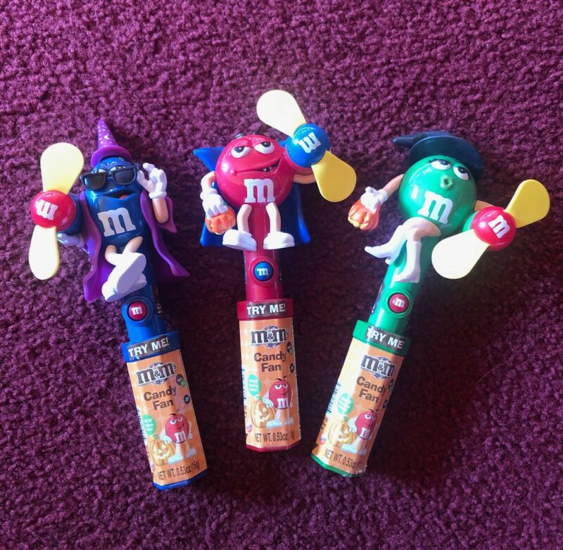 Set of 3 M&M Halloween Candy Fans