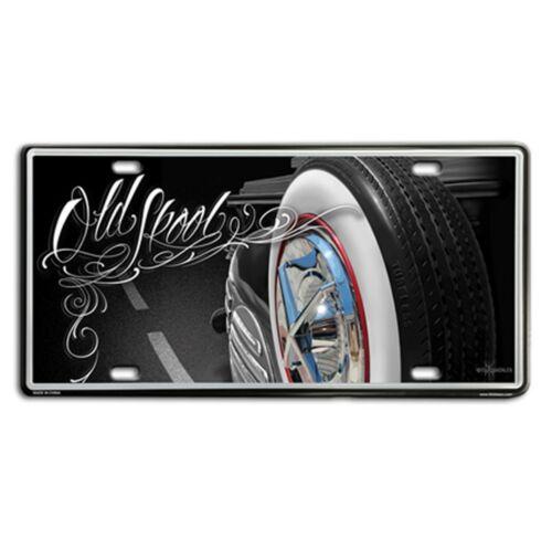 DGA David Gonzales Art Old Skool Lowrider Tin Metal License Plate 12 x 6