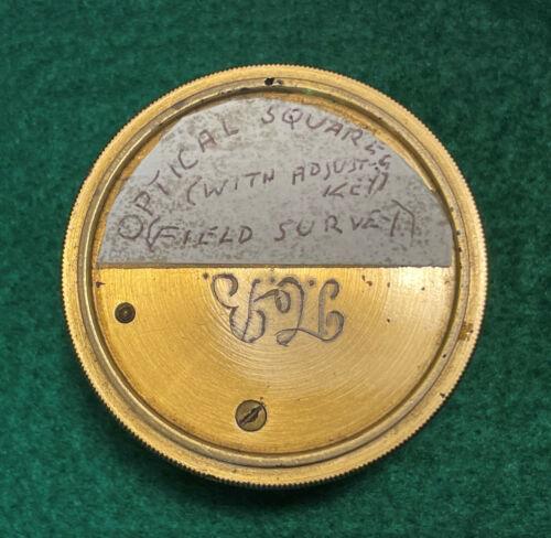 Vintage Brass OPTICAL SQUARE Field Survey