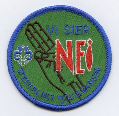 Norway Scouts Against Violence Racism Patch Badge High Grade !!!