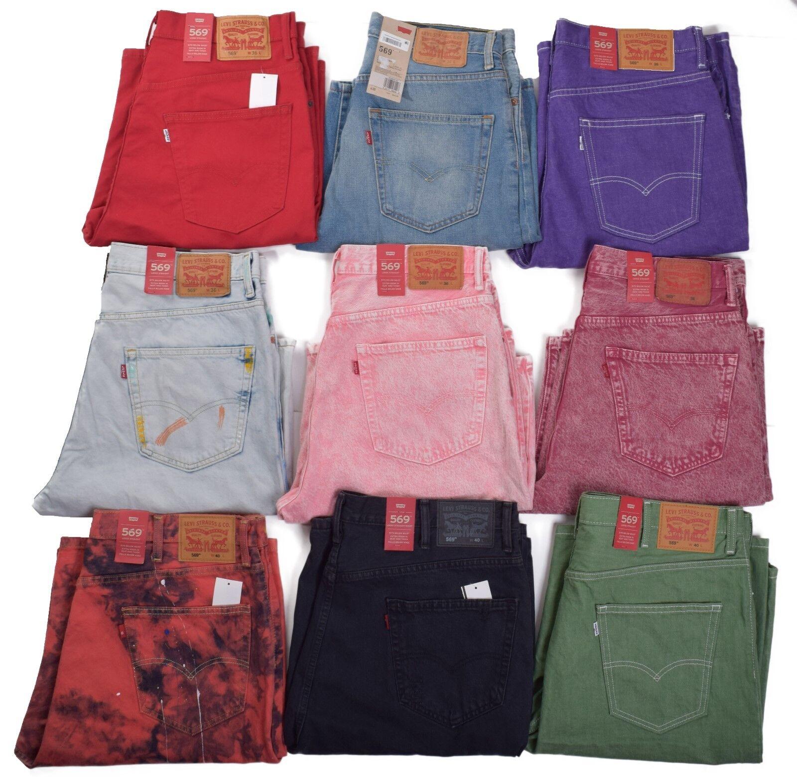 Levis 569 Men's Loose Straight Denim Shorts Choose Color & S