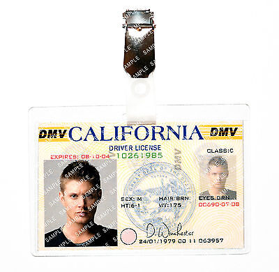 Supernatural Dean Winchester Drivers License ID Badge Cosplay Costume Comic Con